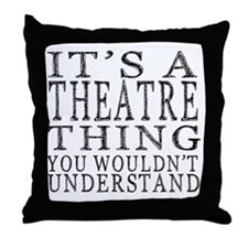Cute Theater Throw Pillow