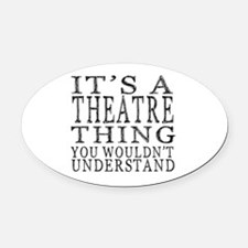 Cute Theater Oval Car Magnet