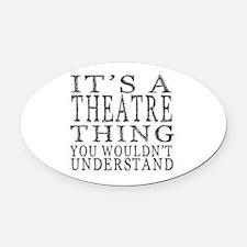 Cute Theatre Oval Car Magnet