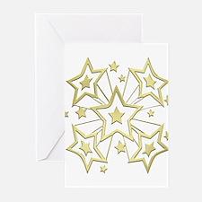 Gold Star Burst Greeting Cards