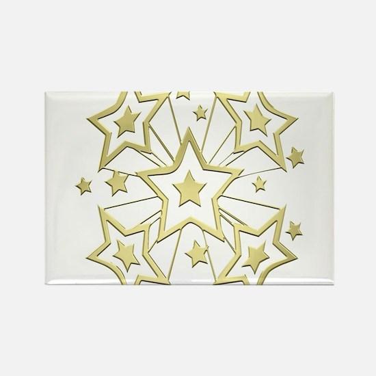 Gold Star Burst Magnets