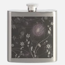 floral butterfly Flask