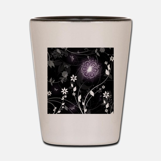 floral butterfly Shot Glass