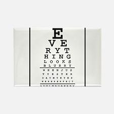 Adult Puberty Eye Chart Magnets