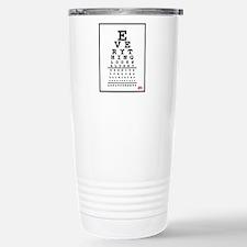Adult Puberty Eye Chart Travel Mug