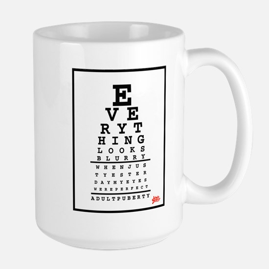 Adult Puberty Eye Chart Mugs