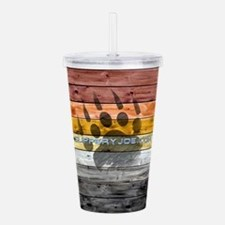 Cool Bear paw graphics Acrylic Double-wall Tumbler
