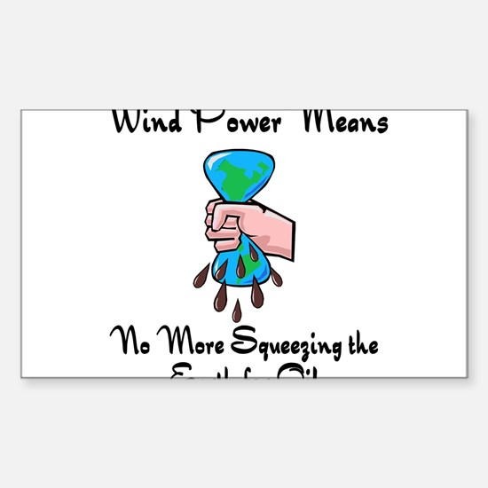 two large windmills.png Sticker (Rectangle)