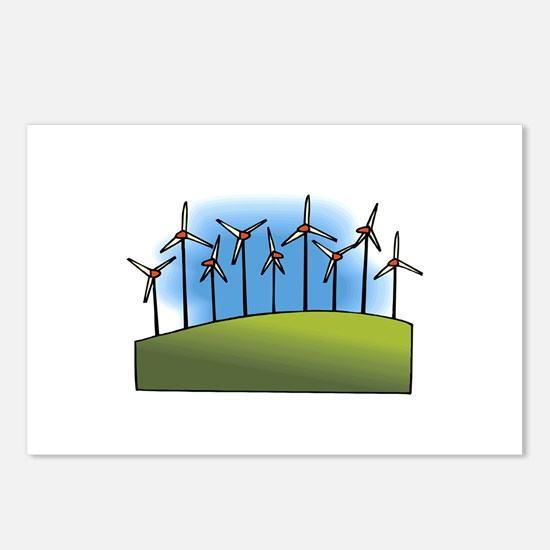 i love heart wind power windmills.png Postcards (P