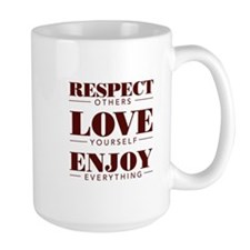 Respect Love Enjoy - Mugs