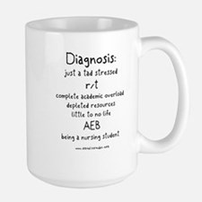 Tad Stressed Student Nurse Large Mug