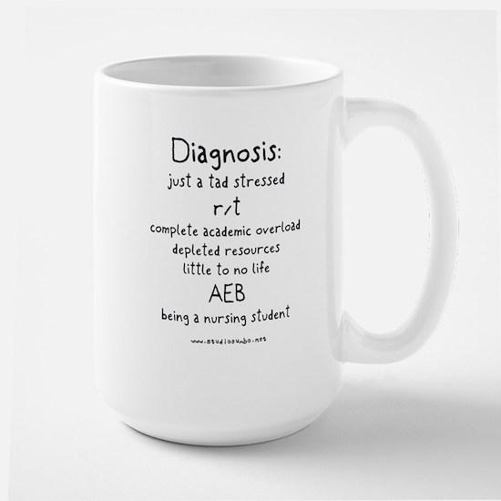 Tad Stressed Student Nurse Large Mug
