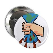 """save the planet earth & flowers.png 2.25"""" Button ("""