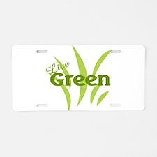 Live Green Aluminum License Plate