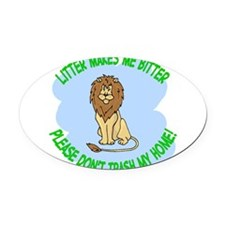 Bitter Littler Lion Oval Car Magnet