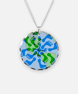 Footprint Planet Necklace