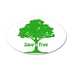 Save a Tree Wall Decal