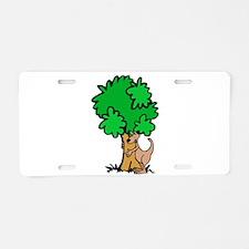 Kangaroo Tree Hugger Aluminum License Plate