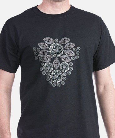 Diamond Floral Pendant T-Shirt