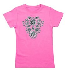 Diamond Floral Pendant Girl's Tee
