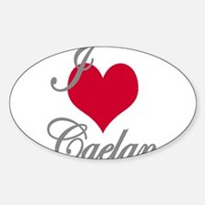 I love (heart) Caelan Sticker (Oval)