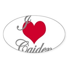 I love (heart) Caiden Decal