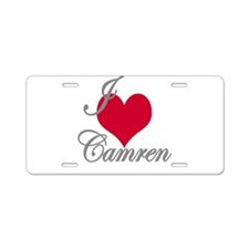 I love (heart) Camren Aluminum License Plate