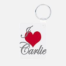 I love (heart) Carlie Keychains
