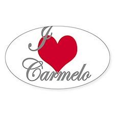 I love (heart) Carmelo Decal