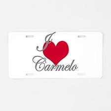 I love (heart) Carmelo Aluminum License Plate