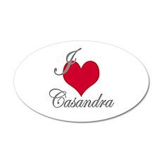 I love (heart) Casandra Wall Decal