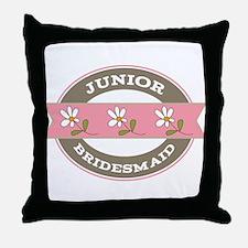 Junior Bridesmaid flowered Throw Pillow