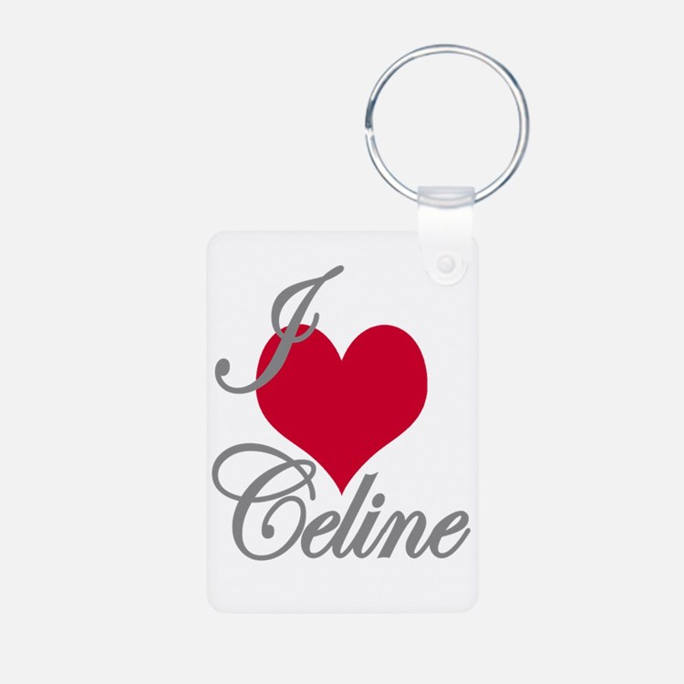 I love (heart) Celine Keychains