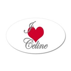 I love (heart) Celine Wall Decal