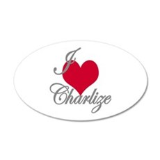 I love (heart) Charlize Wall Decal