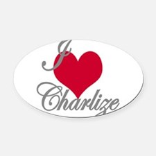 I love (heart) Charlize Oval Car Magnet