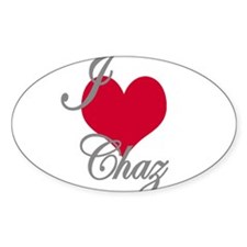I love (heart) Chaz Decal