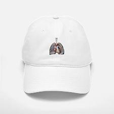 Human Anatomy Heart and Lungs Baseball Baseball Cap
