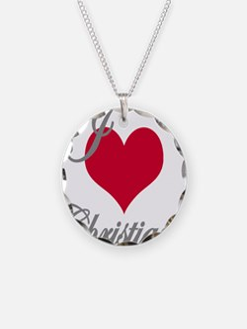 I love (heart) Christiana Necklace