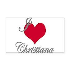 I love (heart) Christiana Rectangle Car Magnet