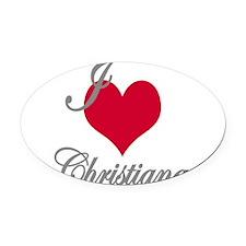 I love (heart) Christiana Oval Car Magnet