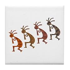 Four Kokopelli Tile Coaster