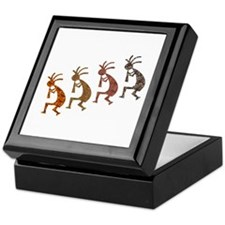 Four Kokopelli Keepsake Box