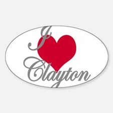 I love (heart) Clayton Decal