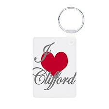 I love (heart) Clifford Aluminum Photo Keychain