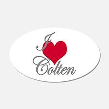 I love (heart) Colten Wall Decal