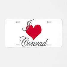 I love (heart) Conrad Aluminum License Plate