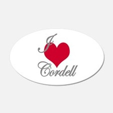 I love (heart) Cordell Wall Decal