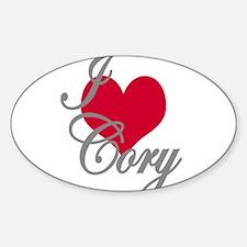 I love (heart) Cory Decal