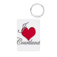 I love (heart) Courtland Keychains